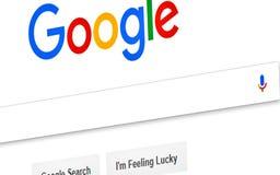 Google Commerciale, contenuto immagini stock