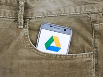 Google conduisent l'application mobile photographie stock libre de droits