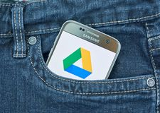 Google conduisent l'application mobile images stock
