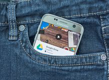 Google conduisent l'application mobile photos stock