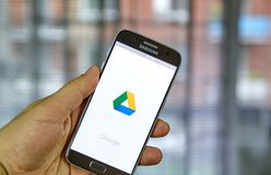 Google conduisent l'application mobile image stock