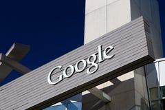 Google Corporate Headquarters and Logo Stock Image