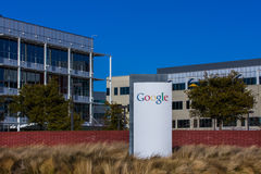 Google Corporate Headquarters and Logo Royalty Free Stock Photo