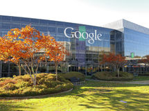 Google Corporate Headquarters. In Mountain View, California in the autumn Royalty Free Stock Photos