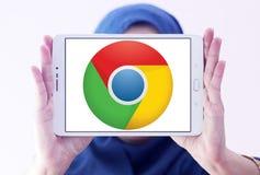 Google croma o logotipo do web browser fotografia de stock