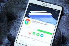 Google croma o web browser app imagem de stock