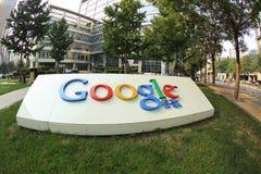 Google-de Bedrijfsbouw teken Stock Foto