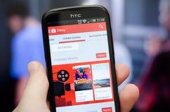 Google-de films zijn beschikbaar in Polen Stock Foto