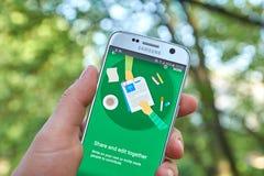 Google doc. app imagen de archivo libre de regalías