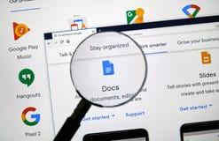 Google Docs-Logo lizenzfreie stockbilder