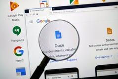 Google Docs-Logo stockfoto
