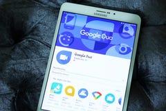 Google-duo mobiele app Stock Fotografie