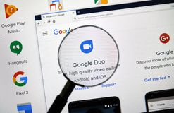 Google-Duologo stockfotos