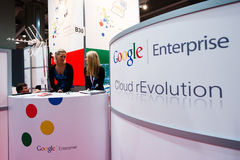 Google Enterprise stand Stock Photography