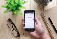 Google es una sociedad multinacional americana que se especializa en Internet Fotos de archivo