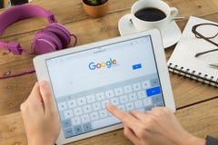 Google es una sociedad multinacional americana que se especializa en Internet Fotografía de archivo libre de regalías