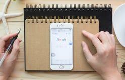 Google es una sociedad multinacional americana que se especializa en Internet Fotografía de archivo