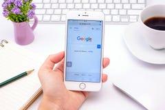 Google es una sociedad multinacional americana que se especializa en Internet-relacionado Imagenes de archivo