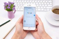 Google es una sociedad multinacional americana que se especializa en Internet-relacionado Imágenes de archivo libres de regalías