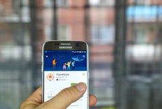 Google-Expedities app stock foto's