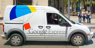 Google Express Delivery Van Royalty Free Stock Photos