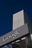 Google företags högkvarter och logo Royaltyfri Foto