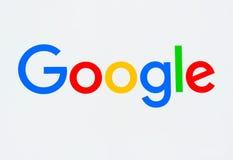 Google företags högkvarter och logo Arkivfoton