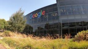 Google förlägger högkvarter symbolen lager videofilmer