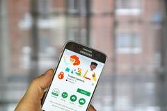 Google a fait confiance à des contacts images stock