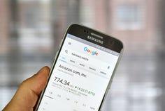 Google Finance page Stock Photos