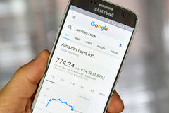Google Finance page Stock Photography