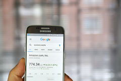 Google Finance page Royalty Free Stock Images