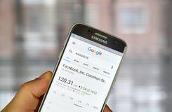 Google Finance page Stock Image