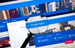 Free Google Flights Web Page Stock Photos - 125845913