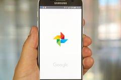 Google fotografii logo Zdjęcie Stock