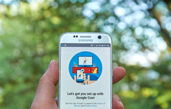 Google Gegoten app Stock Afbeelding