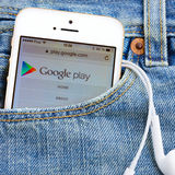 Google gioca Immagini Stock Libere da Diritti