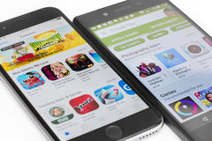 Google gioca e Apple App Store Fotografia Stock