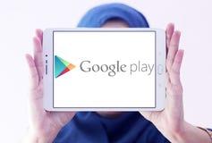 Google gioca il logo del deposito Fotografie Stock