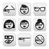 Google glass  buttons set Stock Image