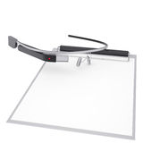 Google Glass and checklist Royalty Free Stock Images