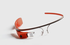 Google Glass. Es on seamless white Royalty Free Stock Photo
