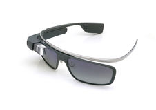 Google glass portable computer display Royalty Free Stock Images