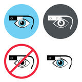 Google glasses icon set Stock Images