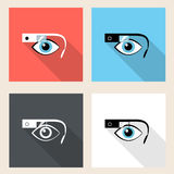 Google glasses icon set Stock Photos
