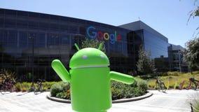 Google hat Statue stock footage