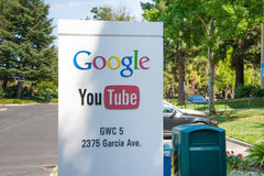 Google-Hauptsitze lizenzfreie stockbilder