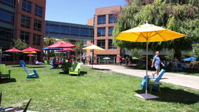 Google headquarters relaxing area stock video
