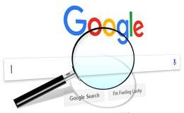 Google, het Zoeken van Webinternet royalty-vrije stock foto's