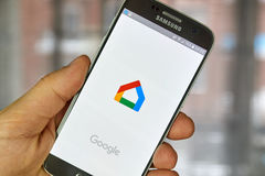 Google Home application Royalty Free Stock Photo